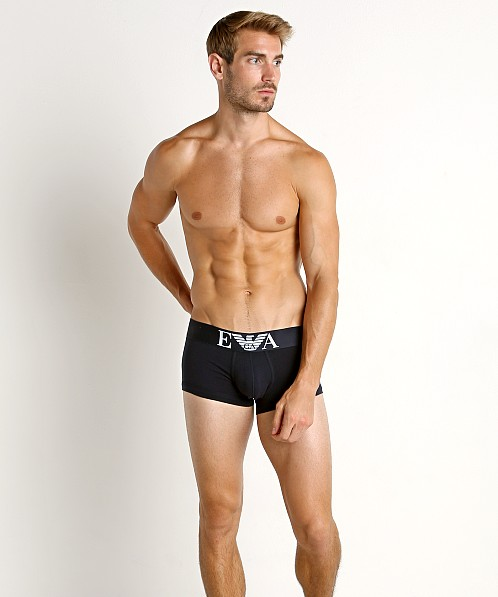 Emporio Armani Stretch Cotton Trunk Marine