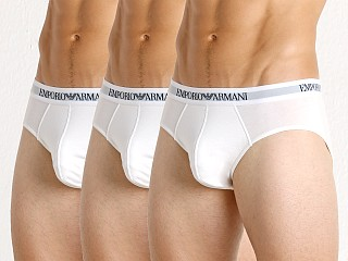 Emporio Armani Pure Cotton Brief 3-Pack White