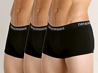 Emporio Armani Pure Cotton Trunk 3-Pack Black