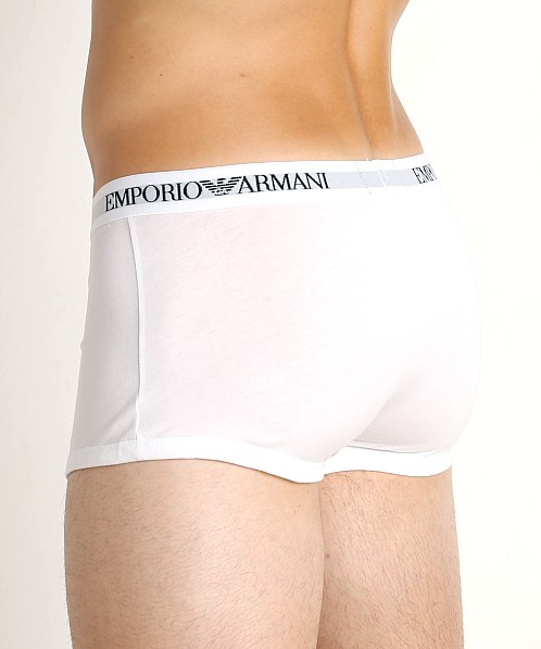 Emporio Armani Pure Cotton Trunk 3-Pack White