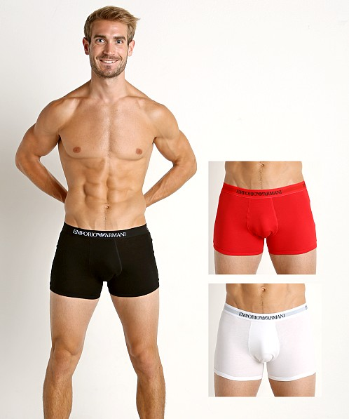 Emporio Armani Pure Cotton Boxer Brief 3-Pack White/Red/Black