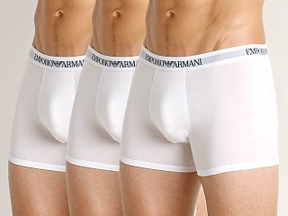 Emporio Armani Pure Cotton Boxer Brief 3-Pack White