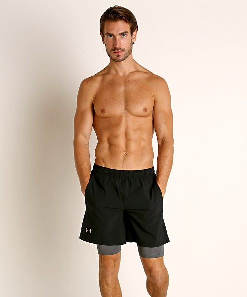 Sombra Hostil recurso  Under Armour Launch SW 2-in-1 Men's Running Shorts Black/Grey 1326576-002  at International Jock