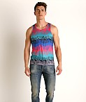 Timoteo Safari Tank Top Blue Drip, view 1