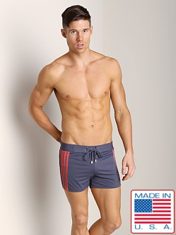 Sauvage Retro Side Stripe Swimmer Grey/Red