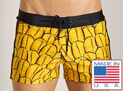 Sauvage Vintage Tribal Swim Trunk Java