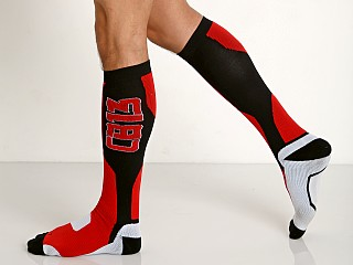 Cell Block 13 Arsenal Knee High Socks Red