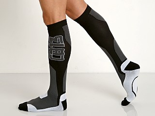 Cell Block 13 Arsenal Knee High Socks Grey