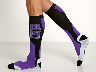 Cell Block 13 Arsenal Knee High Socks Purple