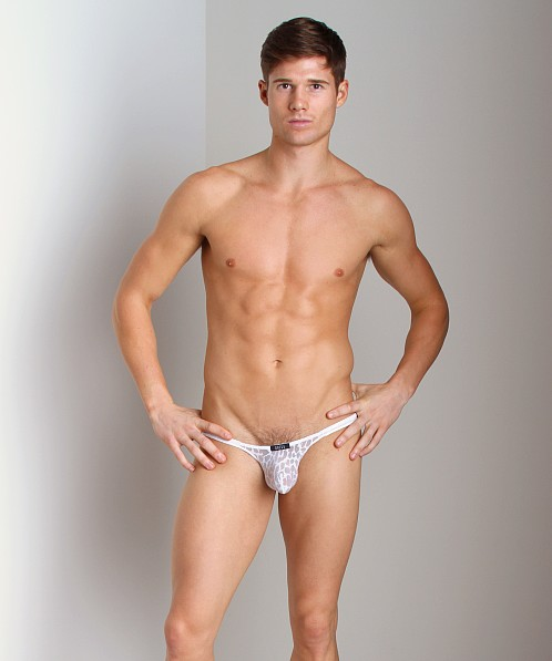 Gregg Homme Appeal Burnout Animal Print Brief White