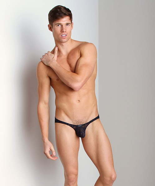Gregg Homme Appeal Burnout Animal Print Brief Navy