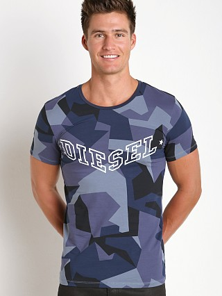 Diesel Camouflage Randal T-Shirt Blue