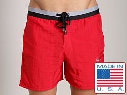 LASC Sea Horse Swim Trunk Red