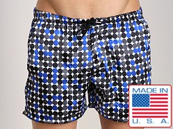 LASC Silky Swim Trunk Blue Dots