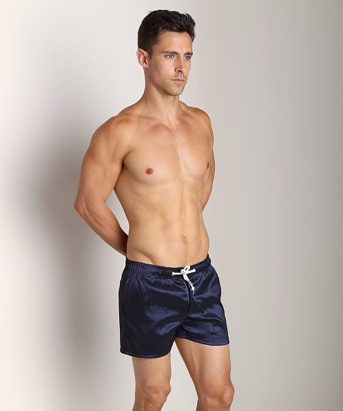 LASC Solid Nylon Swim Trunk Navy