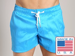 LASC Solid Nylon Swim Trunk Turquoise