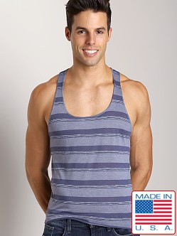 LASC Spring Tank Striped Navy Stripes