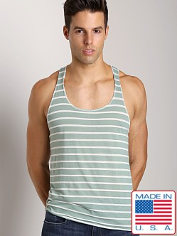 LASC Spring Tank Striped Olive Stripes