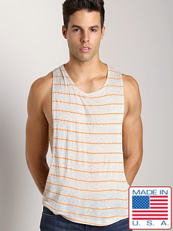 LASC Cut Out Stripe Tee Heather Grey/Orange