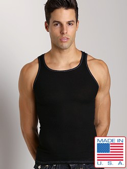 LASC Ribbed Tank Black