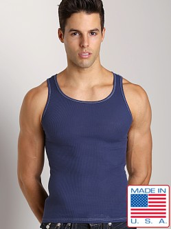 LASC Ribbed Tank Navy