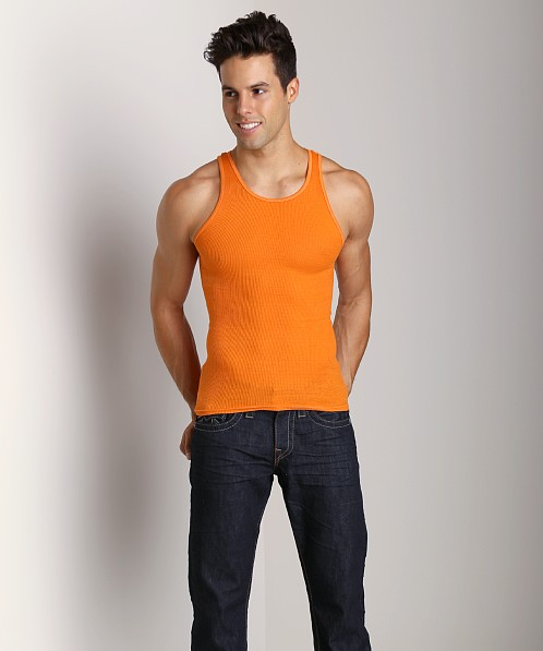 LASC Ribbed Tank Orange