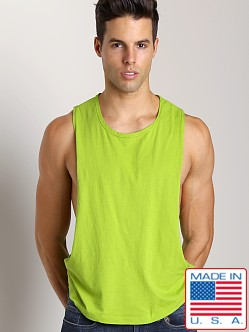 LASC Deep Cut Out Tee Lime