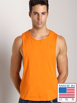LASC Deep Cut Out Tee Orange