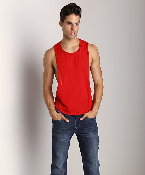 LASC Deep Cut Out Tee Red