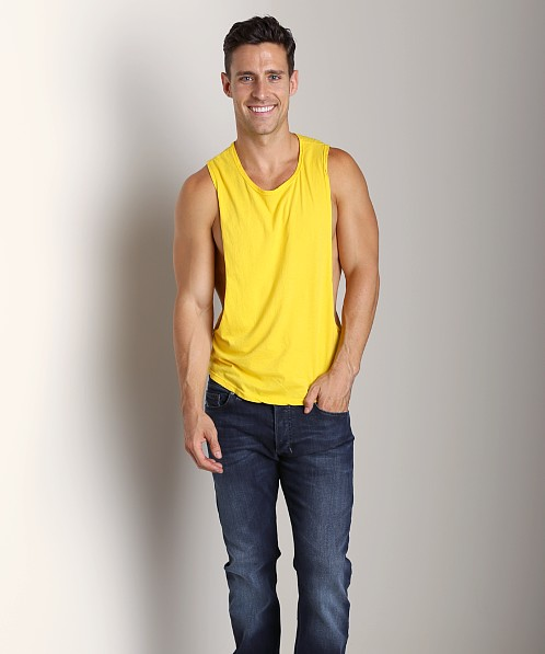 LASC Deep Cut Out Tee Yellow