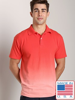 LASC Sun Bleached Pique Polo Red