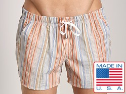 LASC Striped Sun Swim Boxer Orange