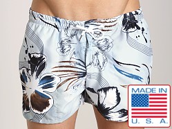 LASC Fish Swim Trunk Hawaii Floral