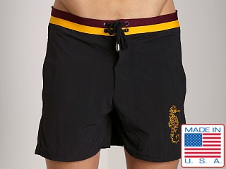 LASC Sea Horse Swim Trunk Black