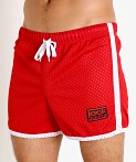 Jack Adams Air Mesh Training Short Red/White, view 3