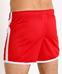 Jack Adams Air Mesh Training Short Red/White, view 4
