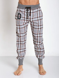 Diesel Plaid Patchboy Pants Grey