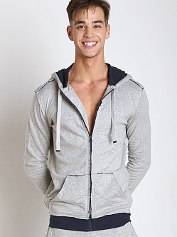 Diesel Cotton Jaquard Brandon Hoodie Grey