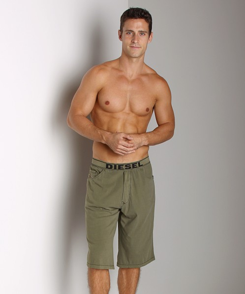 Diesel Cotton Ivan Lounge Shorts Military
