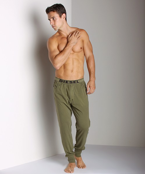 Diesel Cotton Roman Lounge Pants Military