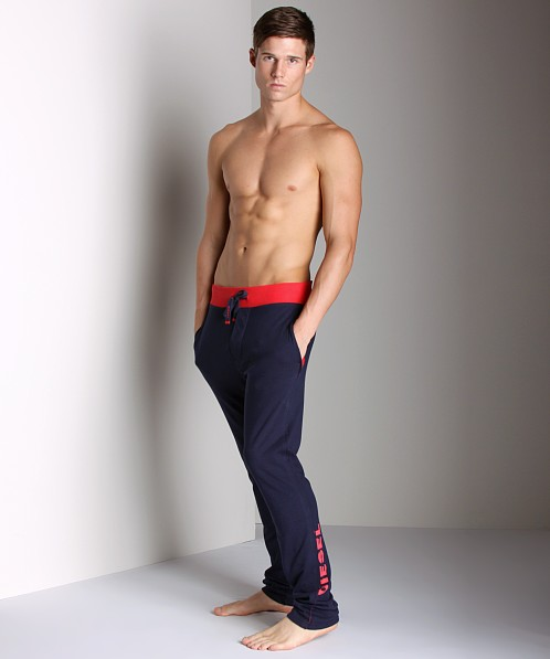 Diesel Cotton Jaquard Massi Lounge Pants Navy