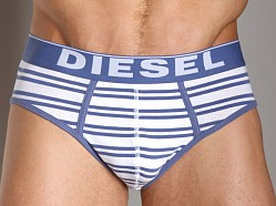 Diesel Fresh and Bright Striped Andre Brief Blue