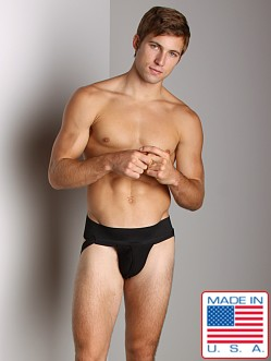 ActiveMan Jockstrap with Fly Black