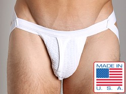 ActiveMan Swimmer Jockstrap with Fly Opening White