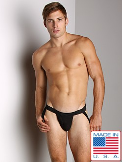 ActiveMan Swimmer Jockstrap with Fly Opening Black