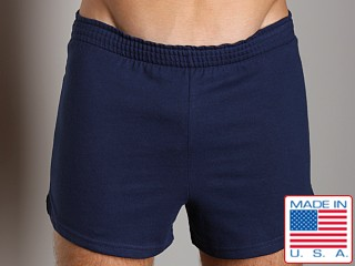 Activeman Gym Shorts with Built-In Jockstrap Navy