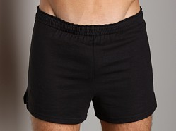 Activeman Gym Shorts with Built-In Jockstrap Black