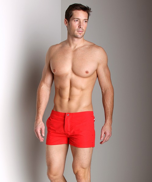 Diesel Grommet Swim Shorts Red