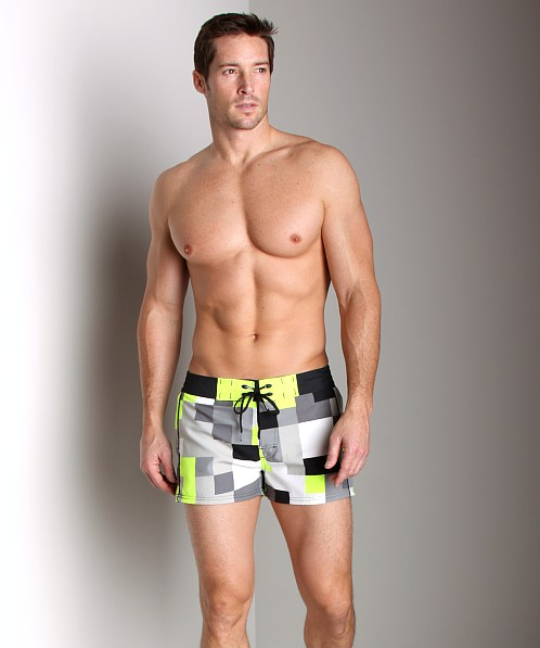 Diesel Barracuda Pixel Swim Shorts Green