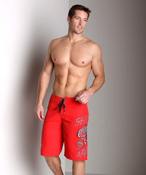 Diesel Deck Jellyfish Board Shorts Red